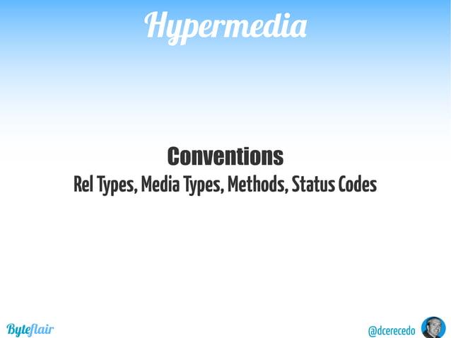 "@dcerecedoByteflair HypermediaHypermedia GET /sessions/1374 Body { …. ""vehicle"":""https://api.domain.com/vehicles/1"", ""driv..."