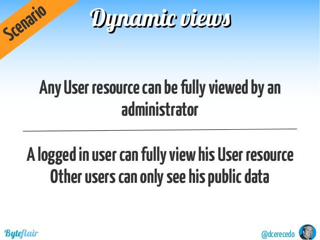 Dynamic viewsDynamic views @dcerecedoByteflair AnyUserresourcecanbefullyviewedbyan administrator Aloggedinusercanfullyview...