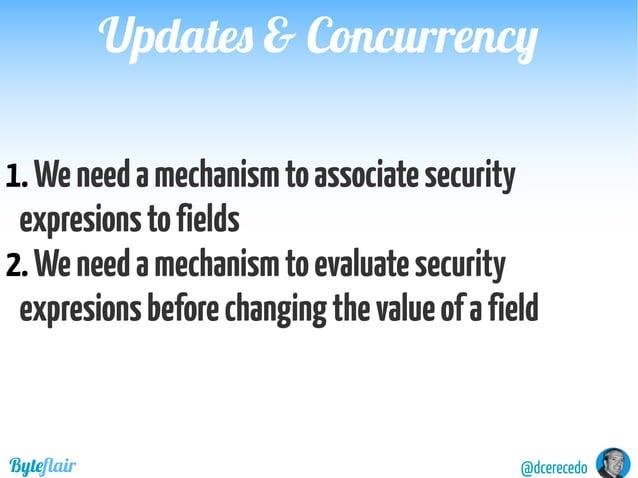 @dcerecedoByteflair Compareincomingresourceandexistingresource... Ifunequalreject... Updates & ConcurrencyUpdates & Concur...