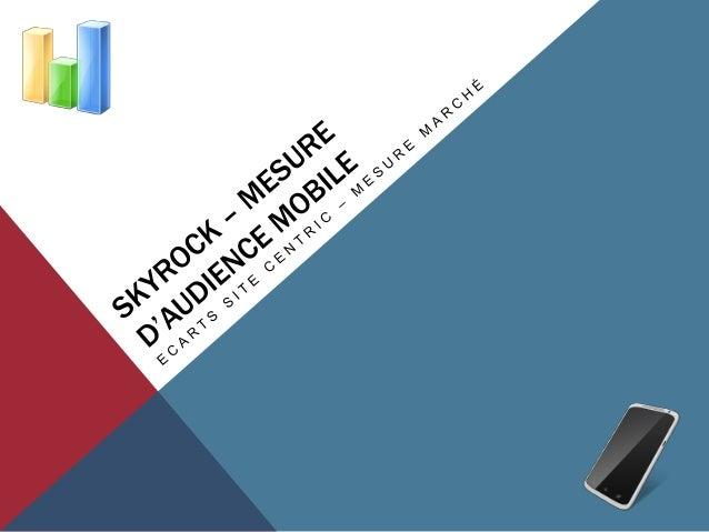 I. CONSTATER LES ECARTSPérimètre retenu pour les constater :-   Site Skyrock.mobi-   L'application Skyrock.com pour Androi...