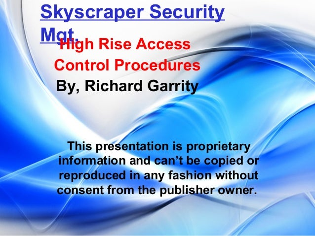 Skyscraper Security Mgt- Administration Mgt. Section II Part V