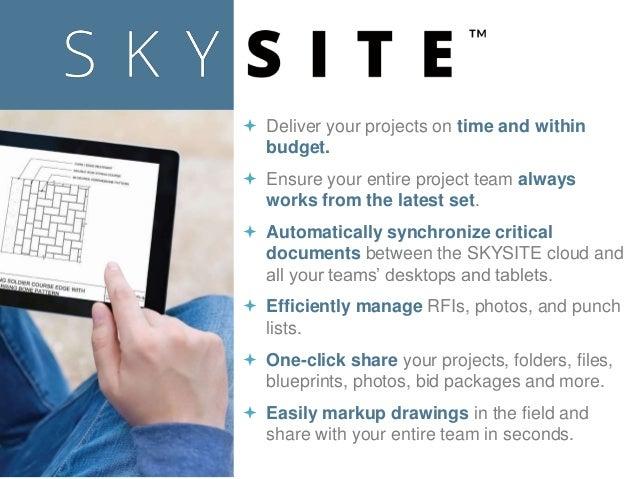 skysite construction app presentation