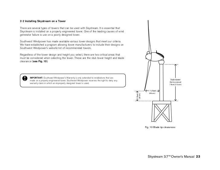 Manual original Aerogerador Skystream 3 7
