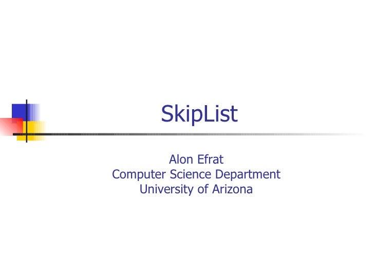 SkipList