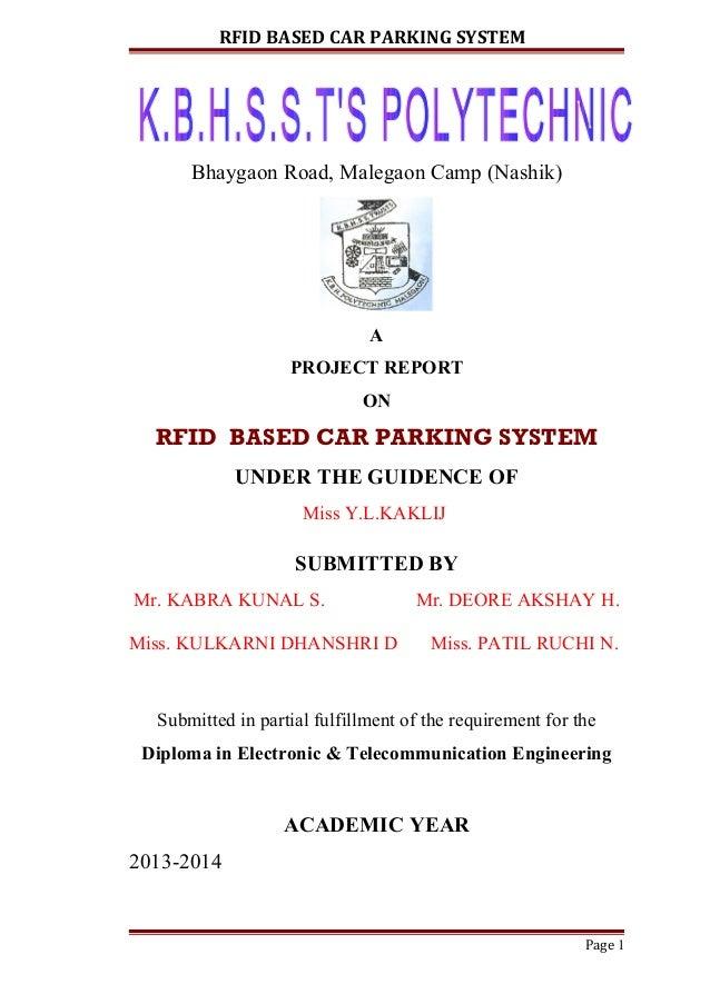 Rfid parking management system ppt