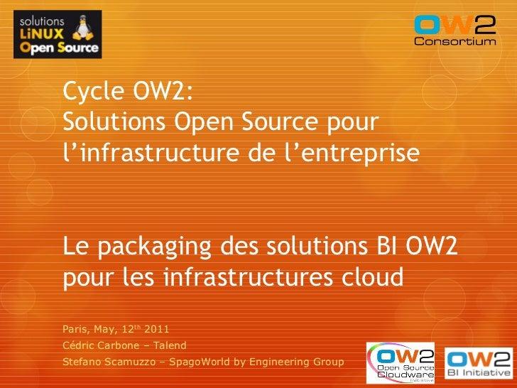 Cycle OW2:Solutions Open Source pourl'infrastructure de l'entrepriseLe packaging des solutions BI OW2pour les infrastructu...