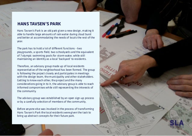 HANS TAVSEN'S PARK Hans Tavsen's Park is an old park given a new design, making it able to handle large amounts of rain wa...