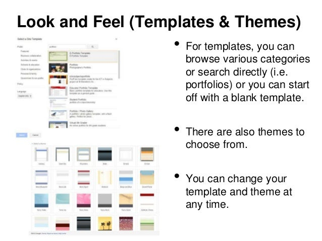 look and feel templates