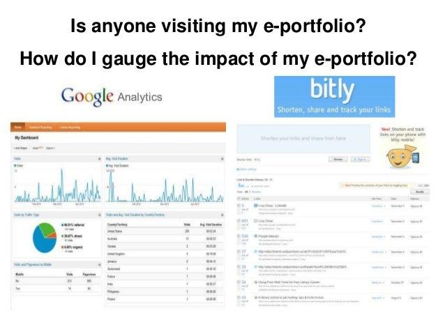 Is anyone visiting my e-portfolio?How do I gauge the impact of my e-portfolio?