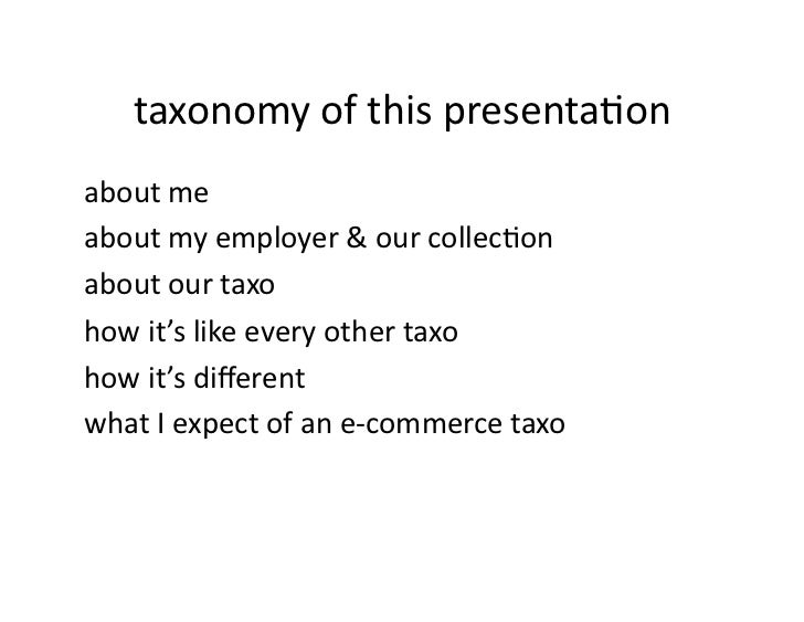 E-Commerce Taxonomies Slide 2
