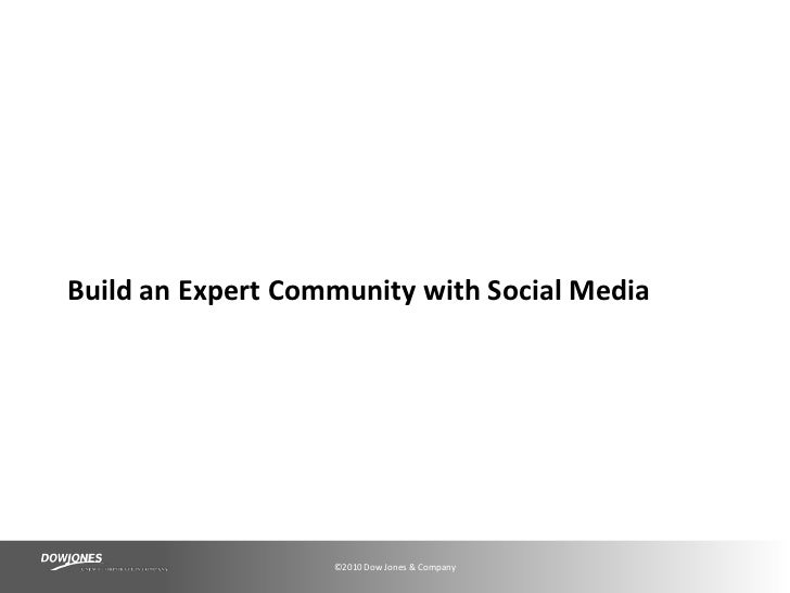 Build an Expert Community with Social Media<br />