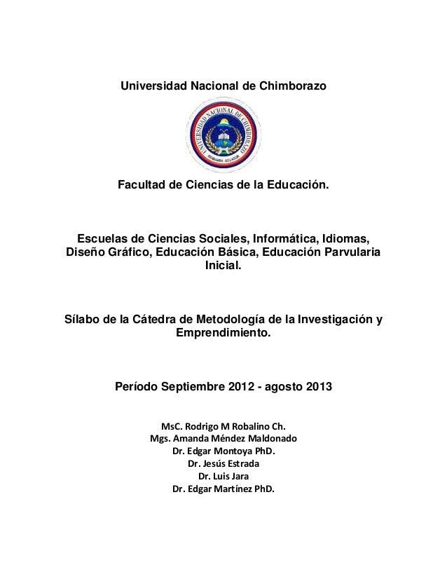 Universidad Nacional de ChimborazoFacultad de Ciencias de la Educación.Escuelas de Ciencias Sociales, Informática, Idiomas...