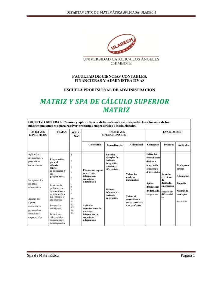 DEPARTAMENTO DE MATEMÁTICA APLICADA-ULADECH                                          FACULTAD DE CIENCIAS CONTABLES,      ...