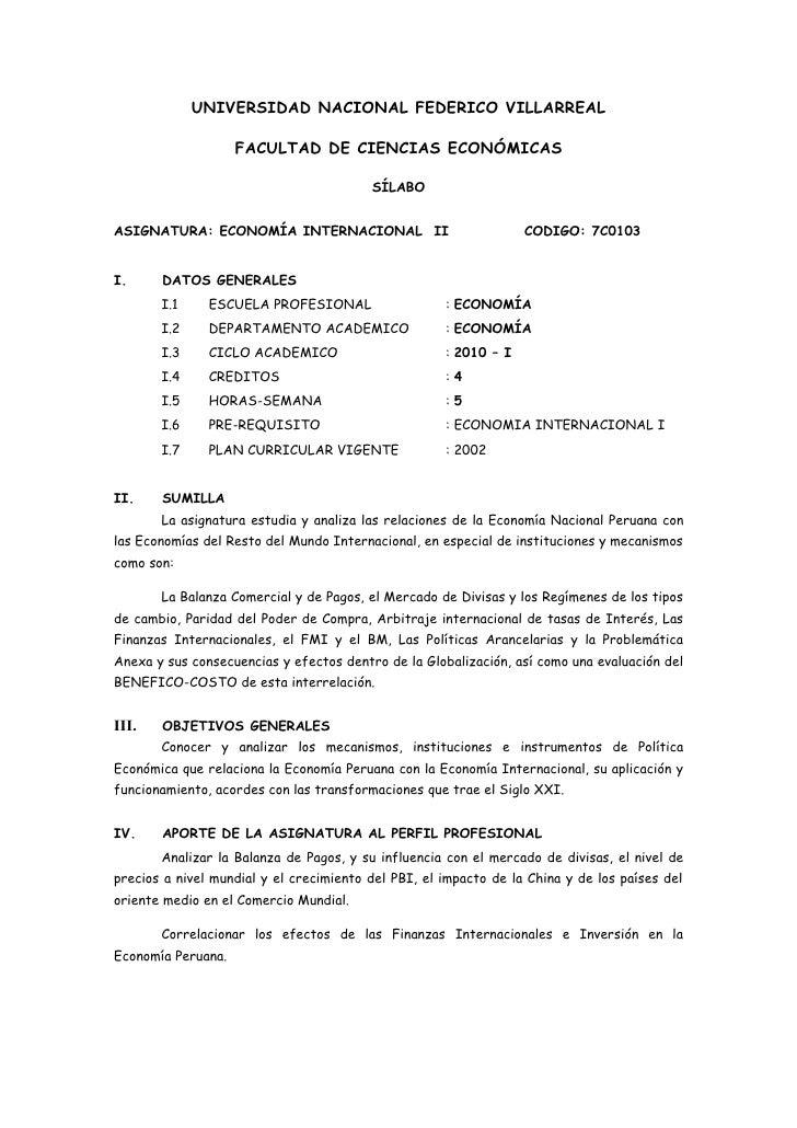 UNIVERSIDAD NACIONAL FEDERICO VILLARREAL                      FACULTAD DE CIENCIAS ECONÓMICAS                             ...