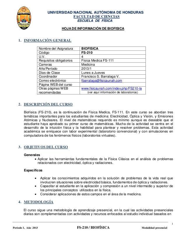 UNIVERSIDAD NACIONAL AUTÓNOMA DE HONDURAS                                       FACULTAD DE CIENCIAS                      ...