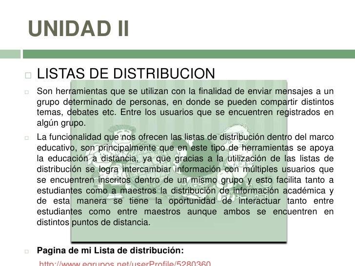 2.1 Listas de distribución