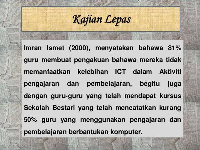 Kurang Pengetahuan dan Kemahiran dalam Penggunaan Teknologi