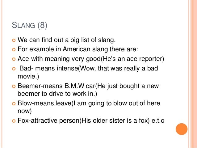 military terms and slang