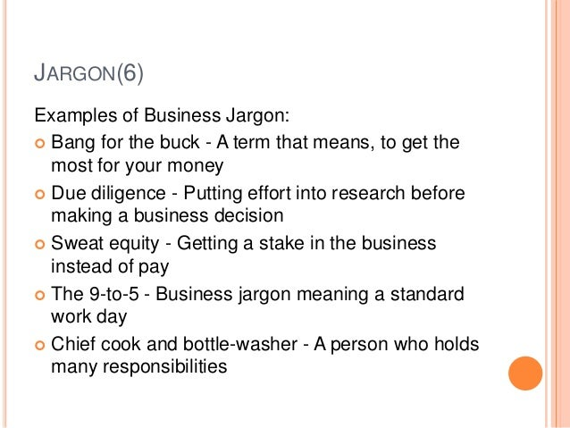 jargon meaning and examples pdf