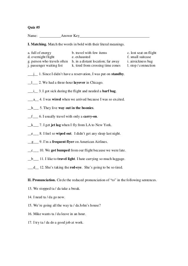 Slang worksheets quizzes