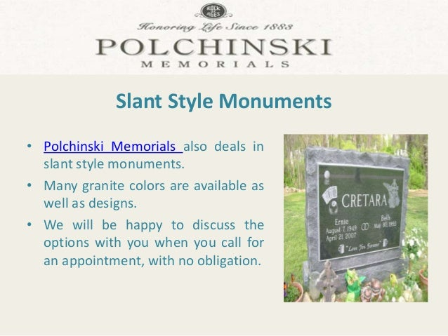 colors for monuments slant style monuments by polchinski memorials