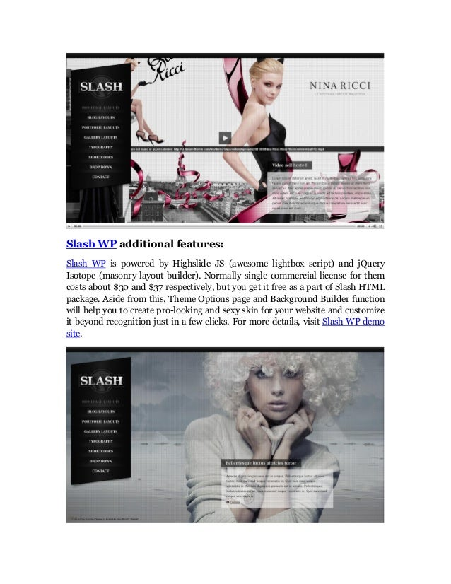 SlashWP Fresh and Distinctive Photography Wordpress Theme Slide 2
