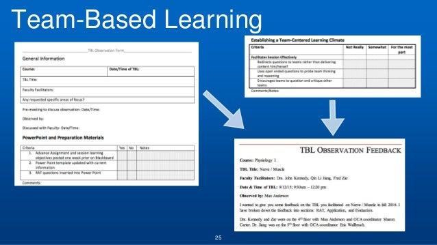 25 Team-Based Learning