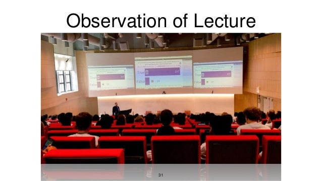 Observation of Lecture 31
