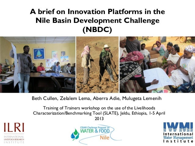 A brief on Innovation Platforms in the Nile Basin Development Challenge               (NBDC)Beth Cullen, Zelalem Lema, Abe...
