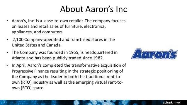 Splunk At Aarons Inc - Aarons store map us