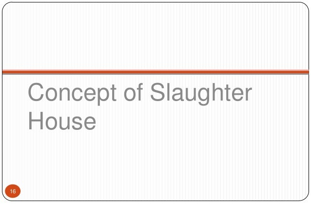 Slaughter House Industry In India