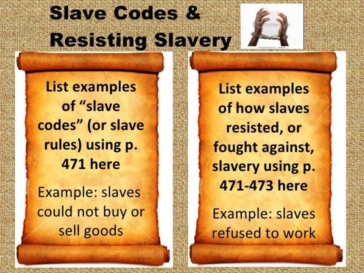 Slave code