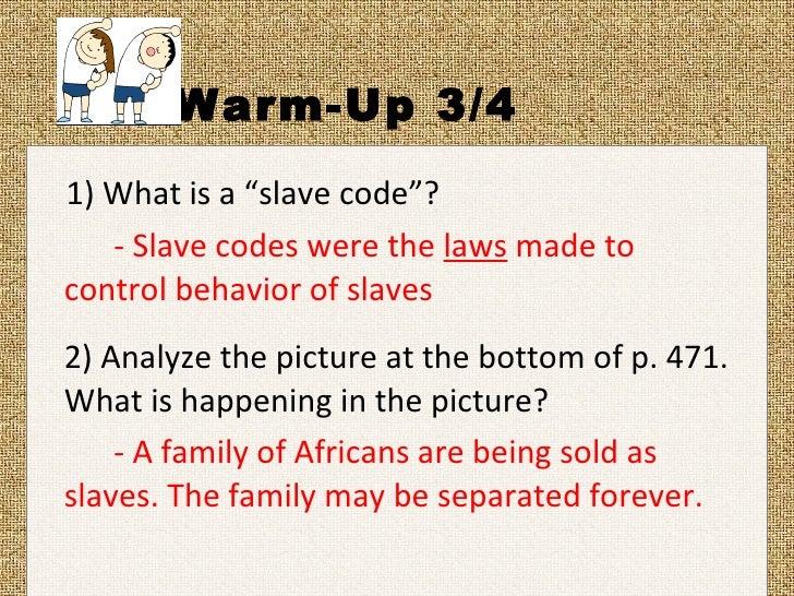 an analysis of slavery