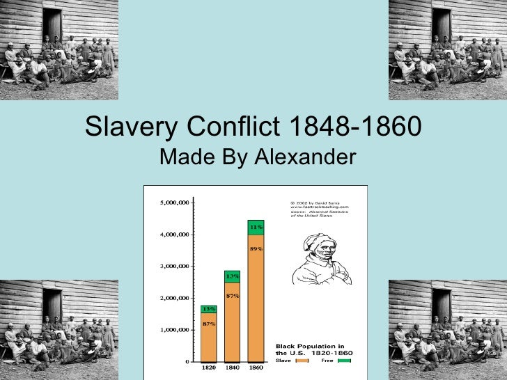 Slavery Conflict 1848-1860 Made By Alexander
