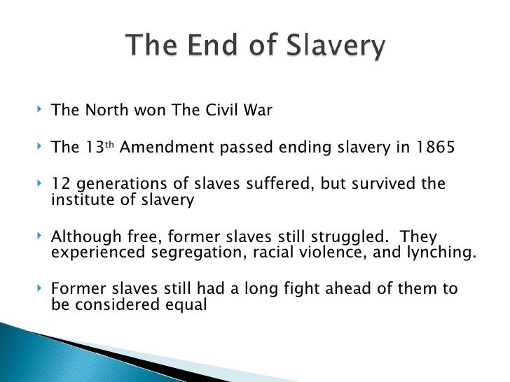 slavery in north america From the 1660s through the 1760s, plantation slavery on the north american  continent centered on the southern coastal colonies of british.