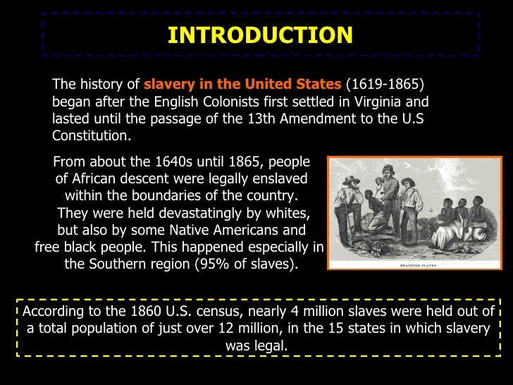 a summary of the slavery in america Slavery and abolition : in american history / by: altman, linda jacobs, 1943- published: (1999) abolition and social justice in the era of reform by: filler, louis, 1911-1998.