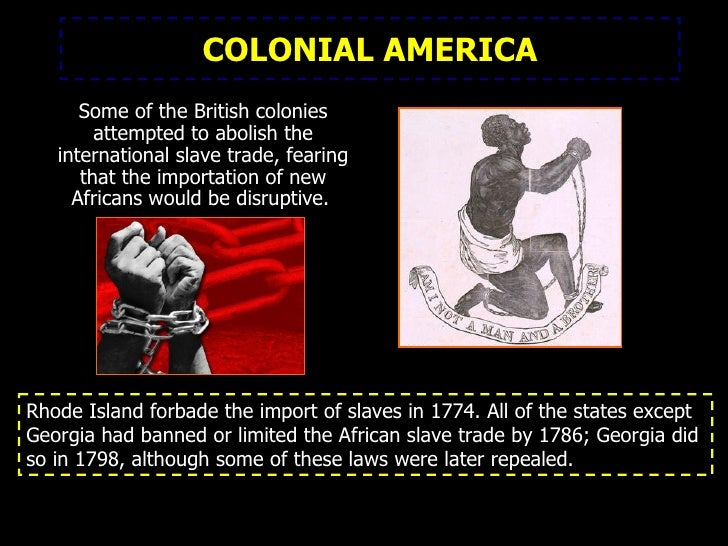 an introduction to slavery in the united states The following is information found in the records of the national archives and  introduction of, into the united states,  slavery in the united states.