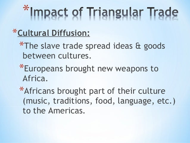 Slave trade triangular trade for African crops and slave cuisine