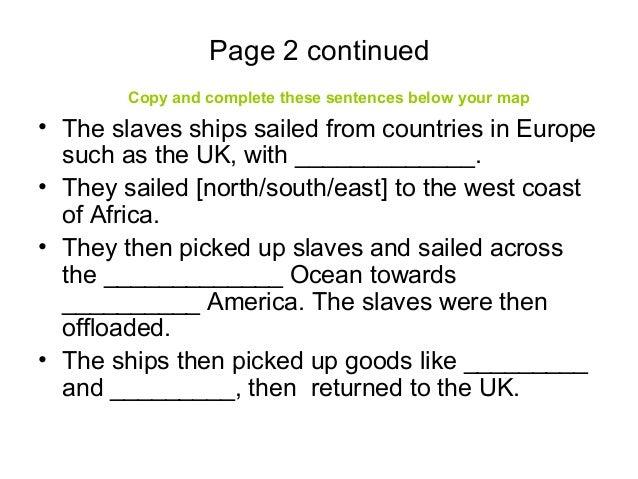 Slave trade project