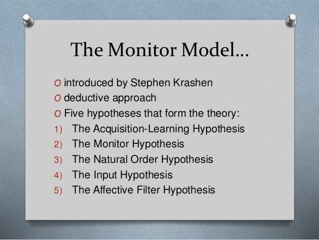 krashens monitor model