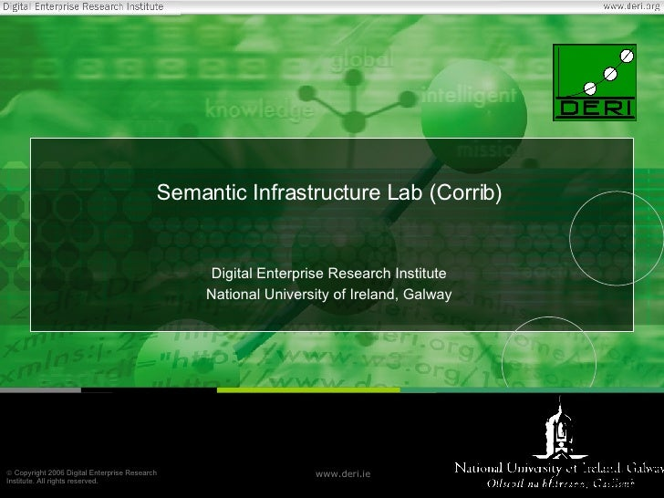 Semantic Infrastructure Lab (Corrib) Digital Enterprise Research Institute National University of Ireland, Galway