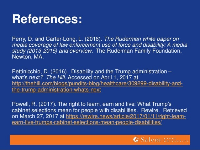 Trump Administration Weighs In On Fape >> Elspeth Slayter Talk On Disability Policy And The Trump Administratio