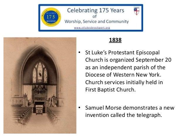 St. Luke's Brockport  - 175th history slide show Slide 2