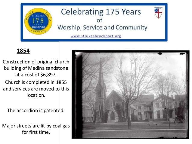 St. Luke's Brockport  - 175th history slide show Slide 3