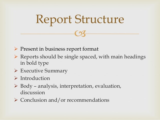 asigement bisness report What is a business report and how do i write one  1 if you are  writing for a class assignment, don't think of your professor as your only audience .
