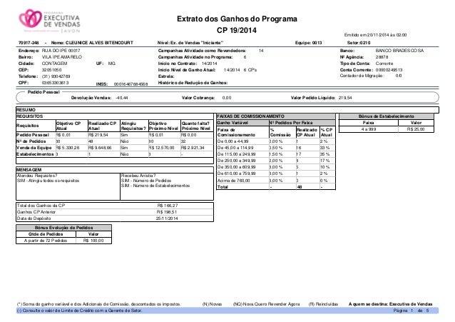 Extrato dos Ganhos do Programa CP 19/2014 Emitido em 20/11/2014 às 02:00 Endereço: RUA DO IPE 00017 Bairro: VILA IPE AMARE...