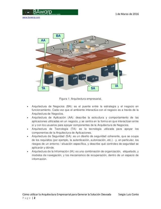 Como utilizar la arquitectura empresarial para generar la - La domotica como solucion de futuro ...