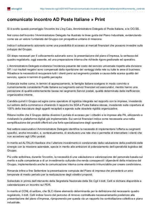 slc-cgil.it http://www.slc-cgil.it/2014/07/servizi-comunicato-incontro-ad-poste-italiane/print/#comments_controls comunica...