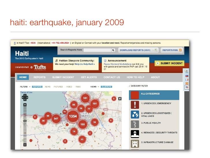 haiti: earthquake, january 2009