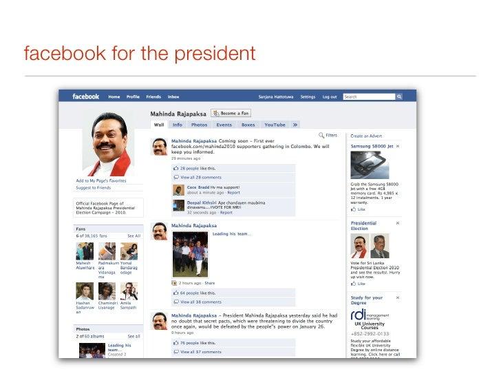 facebook for sarath fonseka